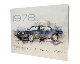 1978 Pontiac Firebird Trans Am Blue Muscle Car Design 16x20 Aluminum Wall Art - $59.35