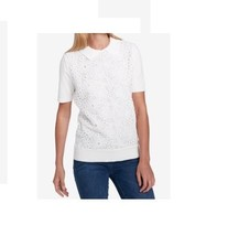 $79.5  Tommy Hilfiger Lace-Front Top Ivory XL - $58.71