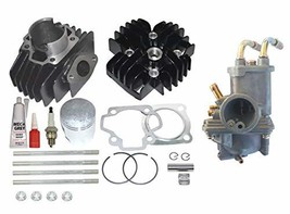 ZOOM ZOOM PARTS Yamaha PW 50 Big Bore Kit Top End Set 60cc Piston Cylind... - $74.95