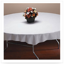 82 inch Linen Like White Octy Round Tablecover/Case of 24 - $267.14