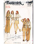 1980's Misses' JACKET, SKIRT & PANTS Pattern 6996-b Size 12 - Complete - $10.99