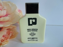 Paco Rabanne Pour Homme After Shave Balm 3.35 oz Original Formula Vintage - $49.99