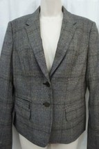 Calvin Klein Suits Blazer Sz 8 Brown Glen Plaid 2 Button Career Suit Jac... - $59.35