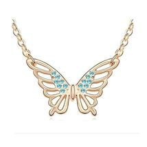 New Stylish Women Crystal Butterfly Fashion Necklace Engagement Wedding Party Gi - $13.49