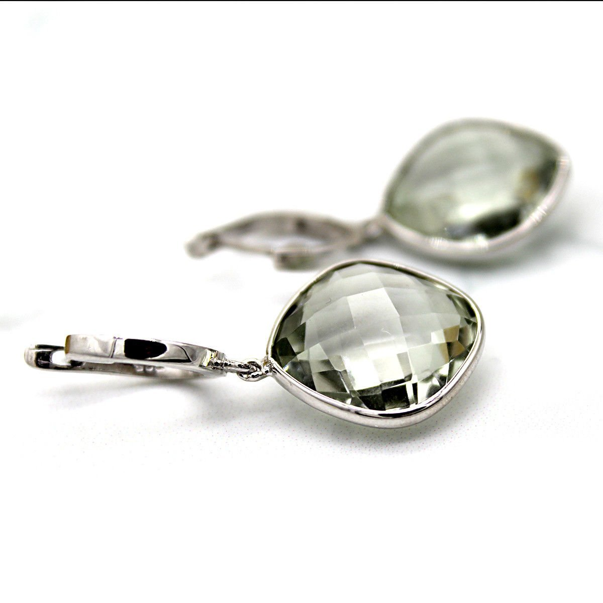 925 Solid Sterling Silver Genuine Green Amethyst Gemstone Handcrafted Women's Dr image 3