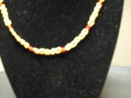 Hand crafted two colored  beaded necklace. - $9.99
