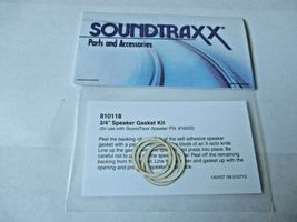 """Soundtraxx #810118 Speaker Gasket Kit  3/4"""" for 810053 Speaker image 3"""