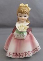 Vintage Lefton Porcelain Bisque March Girl Figurine - KW7227 - $4.00
