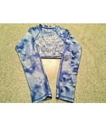 Girl's Gossip Girl Blue Tie Dye Long Sleeve Crop Top (10) - $11.30