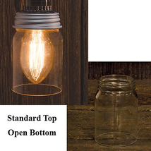 Open bottom Mason Jar Crafts Lighting Flowers R... - $11.88