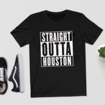 Straight Outta Houston T-Shirt - Astros Rockets H-Town Oilers All Sizes ... - $35.99+
