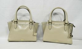 NWT Brahmin Mini Priscilla Smooth Leather Satchel/Shoulder Bag in Sand Topsail image 11