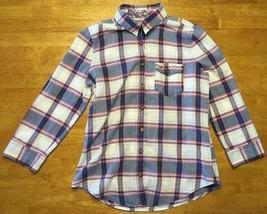 Hollister Women's Multi Color Plaid 3/4 Sleeve Dress Shirt - Size: Small - $16.82
