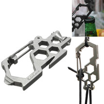 Multifunctional Pulley Para-biner Stainless Carabiner Wrench Opener For ... - $9.40