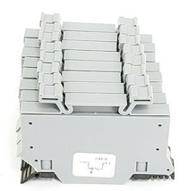 LOT OF 8 MORSETTITALIA S10H EURO S10-5H TERMINAL BLOCKS, 600V, 750V, 10mm^2, 30A