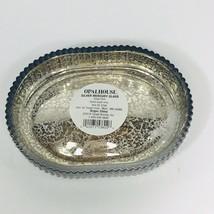 Opalhouse Silver Mercury Soap Dish Glass Heavy New - $5.91