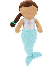 """NWT Carters Plush Toy Stuffed Doll Mermaid Brunette 10"""" Fish Tail Glitter Scales - $21.99"""