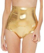 Gold Metallic High Waist Rave Booty Shorts Large - $21.77