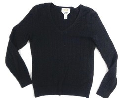 Talbots V Neck Petites womens pullover sweater Size Petites P Pima Cotto... - $4.05