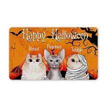 """Personalized Halloween Doormat Custom Cat Breed Door Mat with Name 30"""" X... - $34.60"""