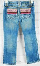 Gap Kids Girl's Jeans Size 4 Regular - 99% Cotton Embroidered Back Pockets Pink image 5