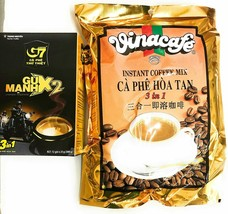 Trung Nguyen & Vinacafe Instant Coffee Variety - G7 Coffee Gu Manh 2x Ex... - $31.67