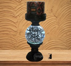 2021 Bath Body Works Pedastal WaterGlobe 3-Wick Candle Holder Cemetery H... - $138.60