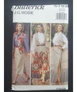 Butterick JG HOOK Sewing Pattern 6793 Vest Shirt Skirt size 12 14 16 VTG... - $8.95