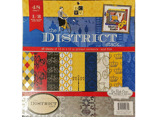 DCWV The District Cardstock Paper Pad 12x12 #PS-005-00256