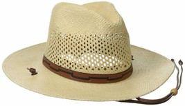 Stetson Men's Stetson Airway Vented Panama Straw Hat Large Natural - $129.99