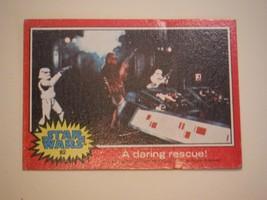 Star Wars Series 2 (Red) Topps 1977 Trading Card # 82 A Daring Rescue - $1.49