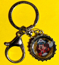 Mickey Mouse Captain Coke Sprite Diet pepsi & more Soda beer cap Keychain image 2