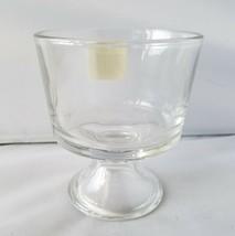 4 Anchor Hocking Mini Trifle Bowl Pedestal Footed Clear Glass Dessert Di... - $23.98