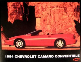 1994 Chevy Camaro Convertible Sheet Brochure, Original Z28 GM 94 - $8.26