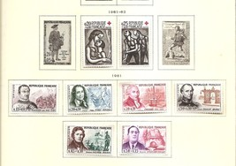 FRANCE Famous Persons Celebrities Stamp Day 1957 Yvert 1295-00 Scott B36... - $4.25