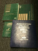 1993 FORD MUSTANG Service Shop Repair Manual Set W EVTM Specs Bk + Audio... - $121.72