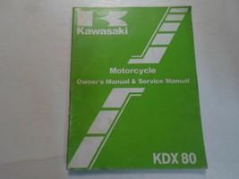 1985 Kawasaki KDX80 Owners Manuell & Service Stained Wasser Beschädigt O... - $17.71