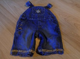 Infant Size 0-3 Months Koala Kids Western Cowboy Sheriff Denim Jean Over... - $18.00