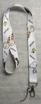Peanuts SNOOPY Charlie Brown White LANYARD KEY CHAIN Ring Keychain ID Ho... - $12.99
