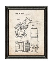 Beach Cart Patent Print Old Look with Black Wood Frame - $24.95+