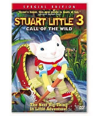Stuart Little 3 Call of the Wild Mouse Movie DVD Children Animation Adventure