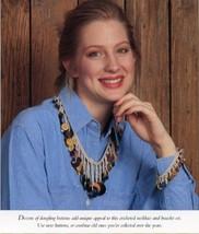 Button Up Necklace & Bracelet Vanna Crochet Pattern/Instructions Leaflet... - $0.90