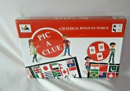 PIC-A-CLUE A Quizzical Bingo On World  Boardgame New - $9.85