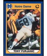 1990 Collegiate Collection Notre Dame #53 Tony Furjanic NM Near Mint - $0.75