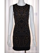 DEX Embellished Black Dress Evening Night Cocktail Party Gown Medium M N... - $44.52