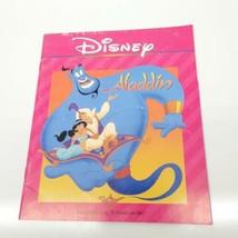 1992 Walt Disney's Read Along ALADDIN 24 page Book Genie Jasmine (book only)(ez) - $9.11