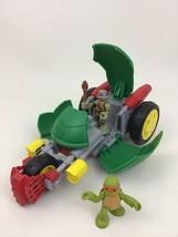 Stealth Bike Teenage Mutant Ninja Turtles 3pc Lot TMNT Toy Figures Mikey... - $22.23