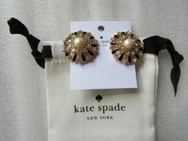 Kate Spade New York Stud Earrings Tuxedo Pearls New $125 - $64.35