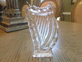 "Waterford Crystal Harp Figurine 5"" Tall Closet Kept - $38.56"