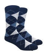Urban-Peacock - Men's Dress, Trouser & Groomsmen Socks - Navy Argyle - 1... - $69.95